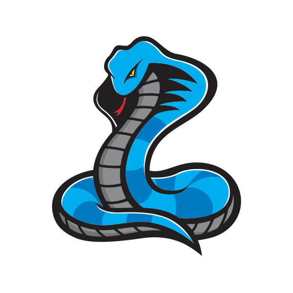Printed vinyl blue cobra. Factory clipart military building