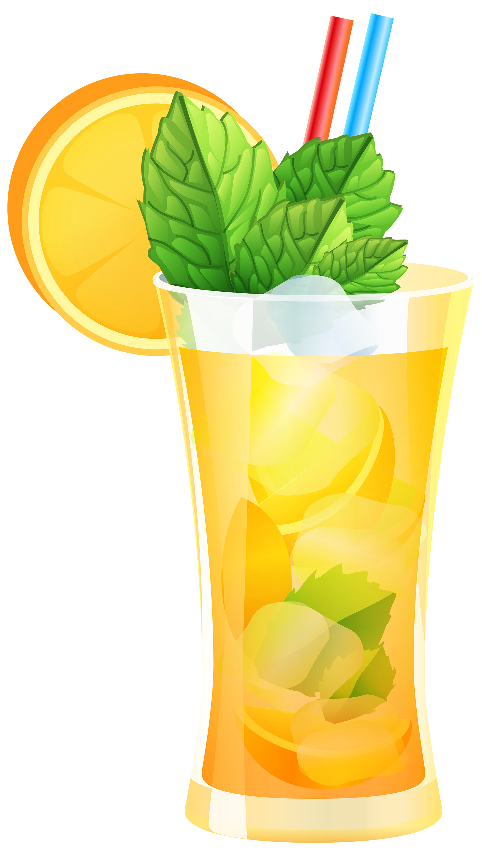 Cocktail clipart. Transparent orange png best