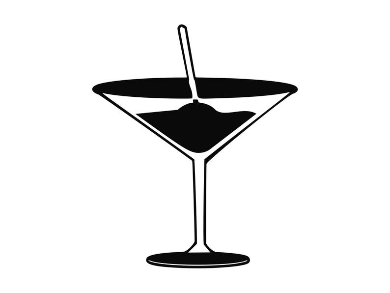 Cocktail clipart bar drink. Liquor silhouette cutting file