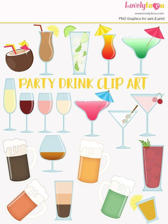 Cocktail clipart beer wine. Clip art set alcoholic