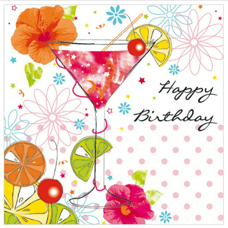Martini birthdays greetings happy. Cocktail clipart birthday