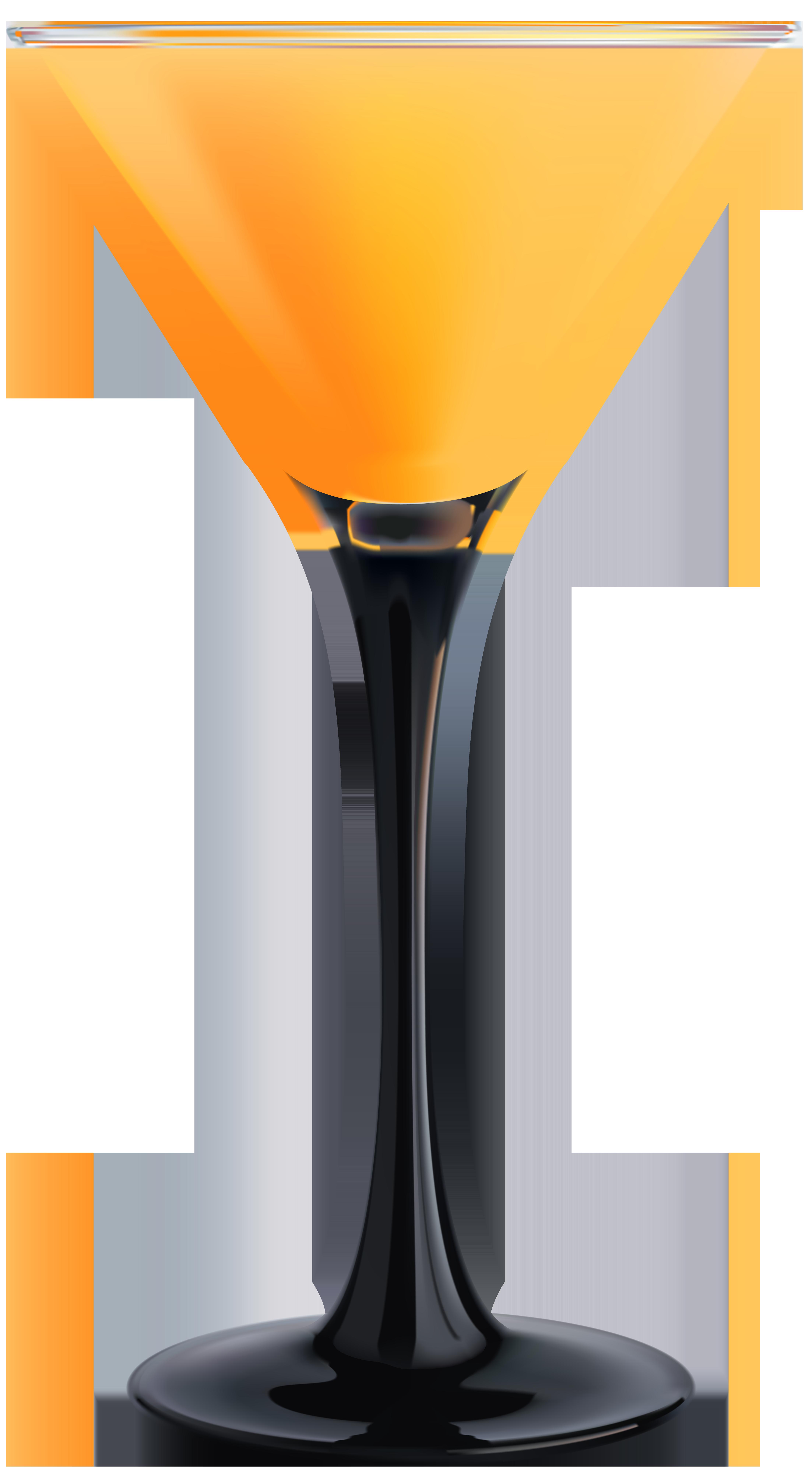 Orange cocktail png clip. Drink clipart martini