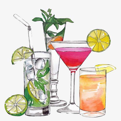 Cartoon . Cocktails clipart cocktail menu