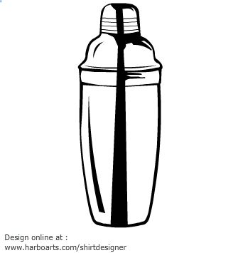 Drawn logo ideas in. Cocktail clipart cocktail shaker