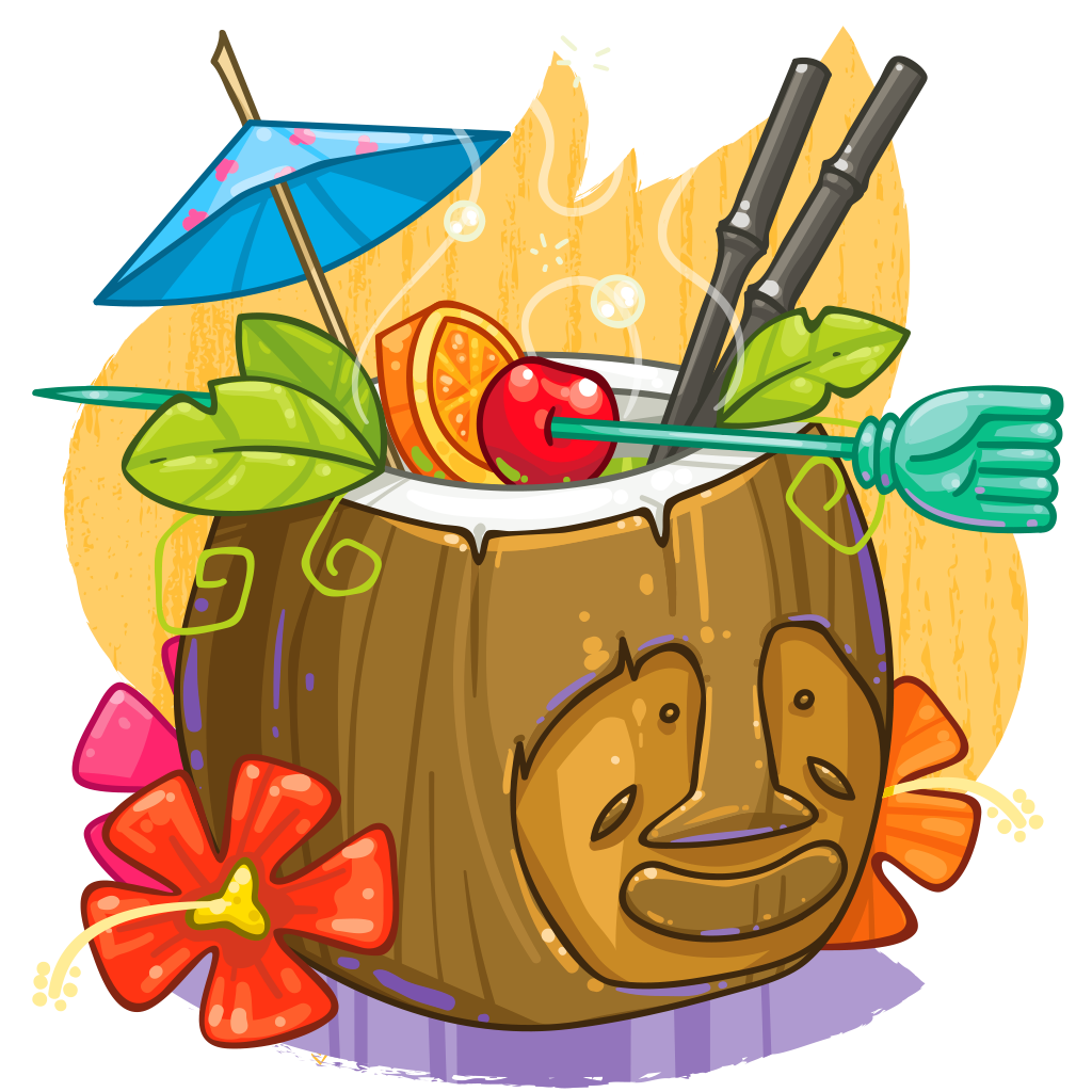 Item detail itembrowser tiki. Cocktail clipart coconut