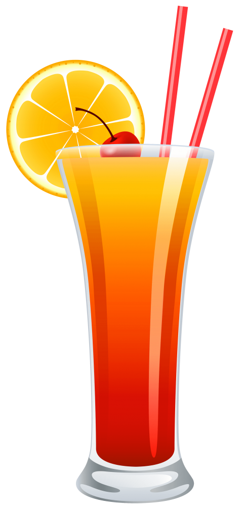 Tequila sunrise png free. Cocktail clipart coconut