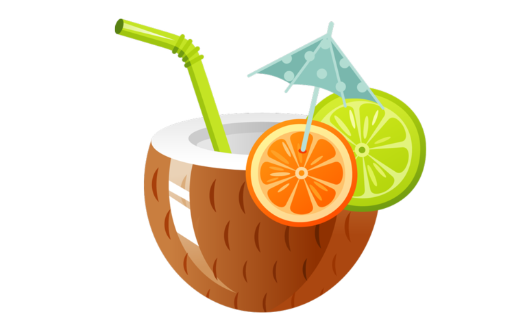 Cocktail clipart coconut. Volunteer chccs project graduation