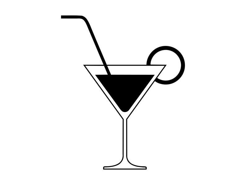 Svg silhouette beverage clip. Cocktail clipart coctail