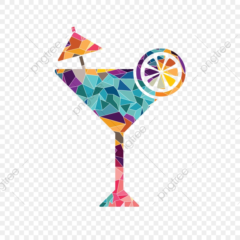 Cocktail clipart colorful. Martini glass