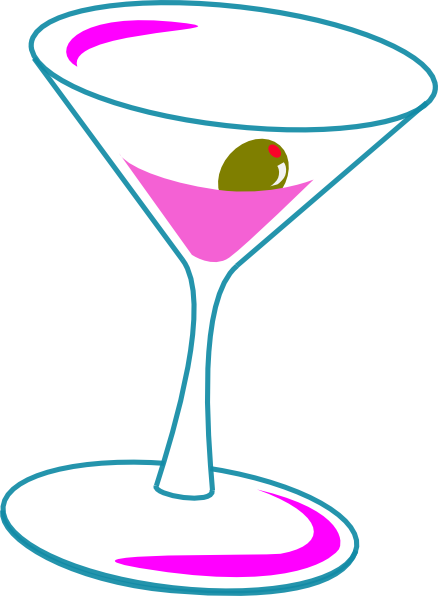 Clip art at clker. Cocktails clipart cosmo