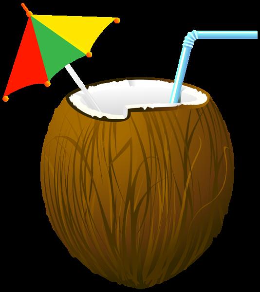 Coconut clipart kid. Cocktail transparent png clip