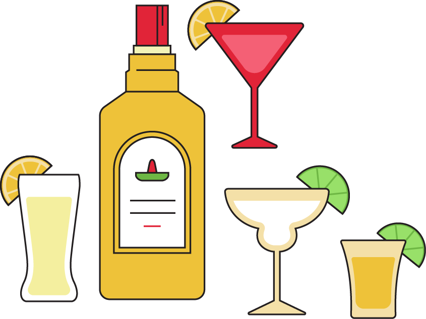 Cocktail clipart drink mexican. Key elements for the