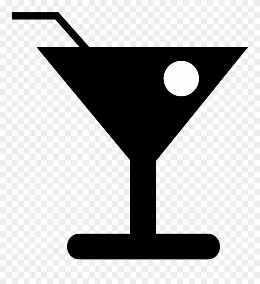 Martini olive straw . Cocktail clipart drinking glass