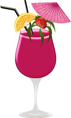 Free tropical cocktail cliparts. Cocktails clipart exotic