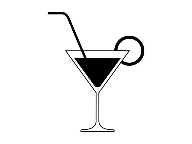 Cocktail clipart file. Svg silhouette beverage clip