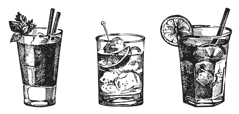 drinks clipart old fashion