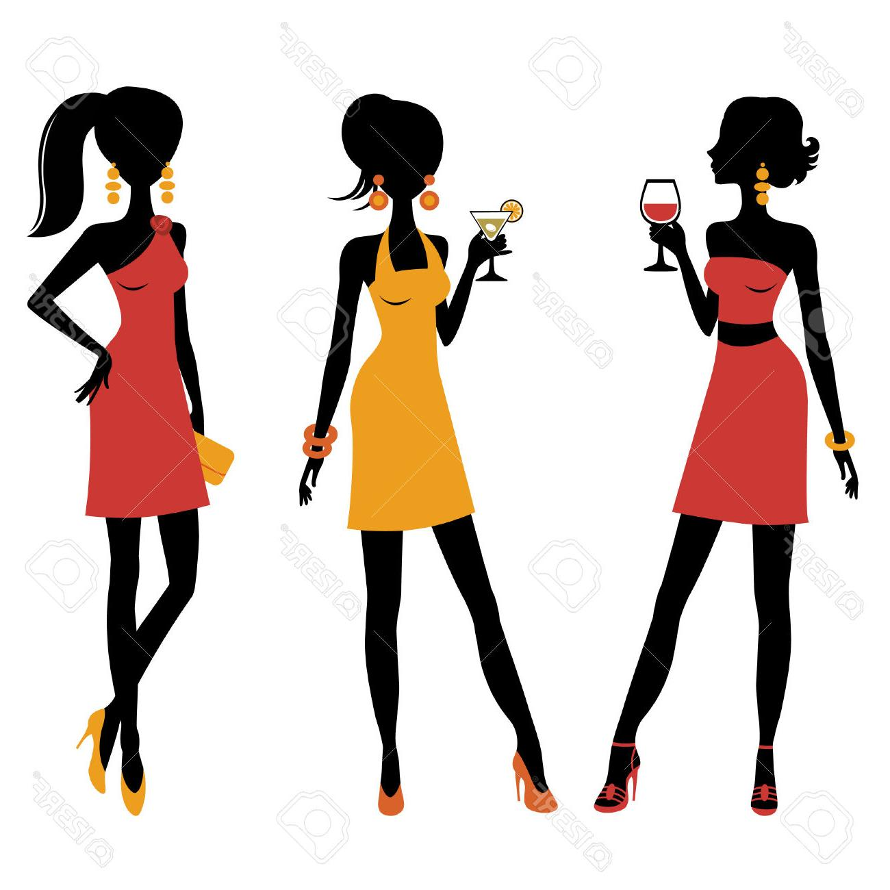 Cocktails clipart group. Of girls free download