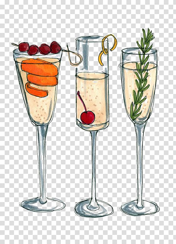 Cocktail clipart liqour. Three footed drinking glasses