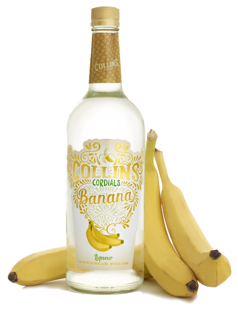 Banana liqueur collins cordials. Cocktail clipart liqour