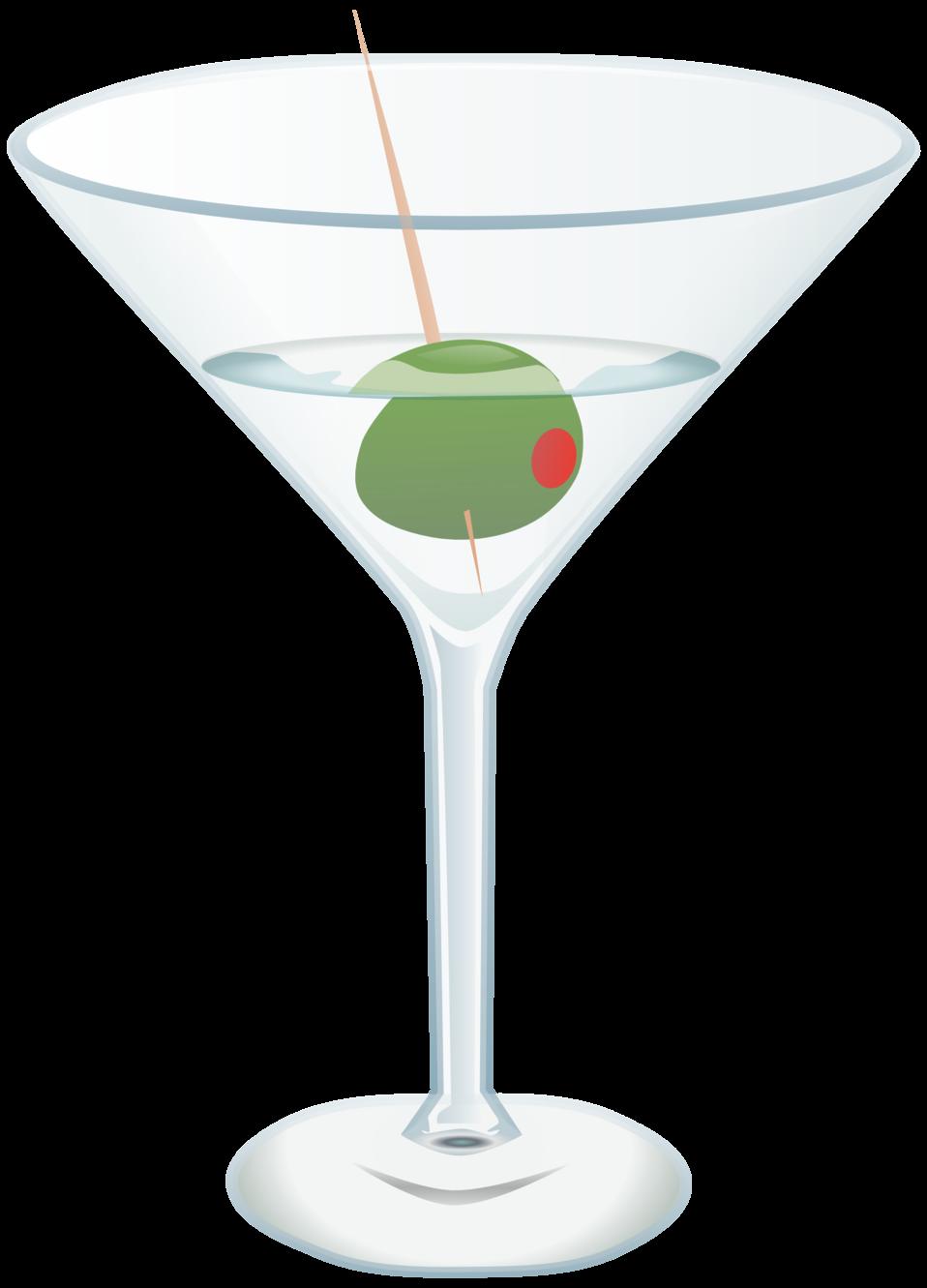 Cocktail clipart martini olive. Public domain clip art
