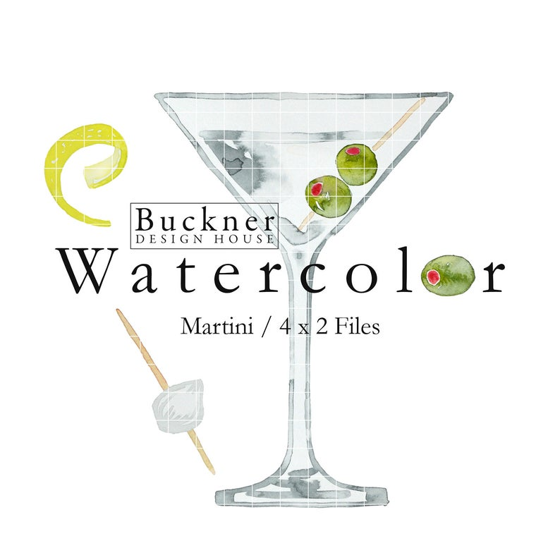 Cocktail clipart martini olive. Watercolor with olives gin