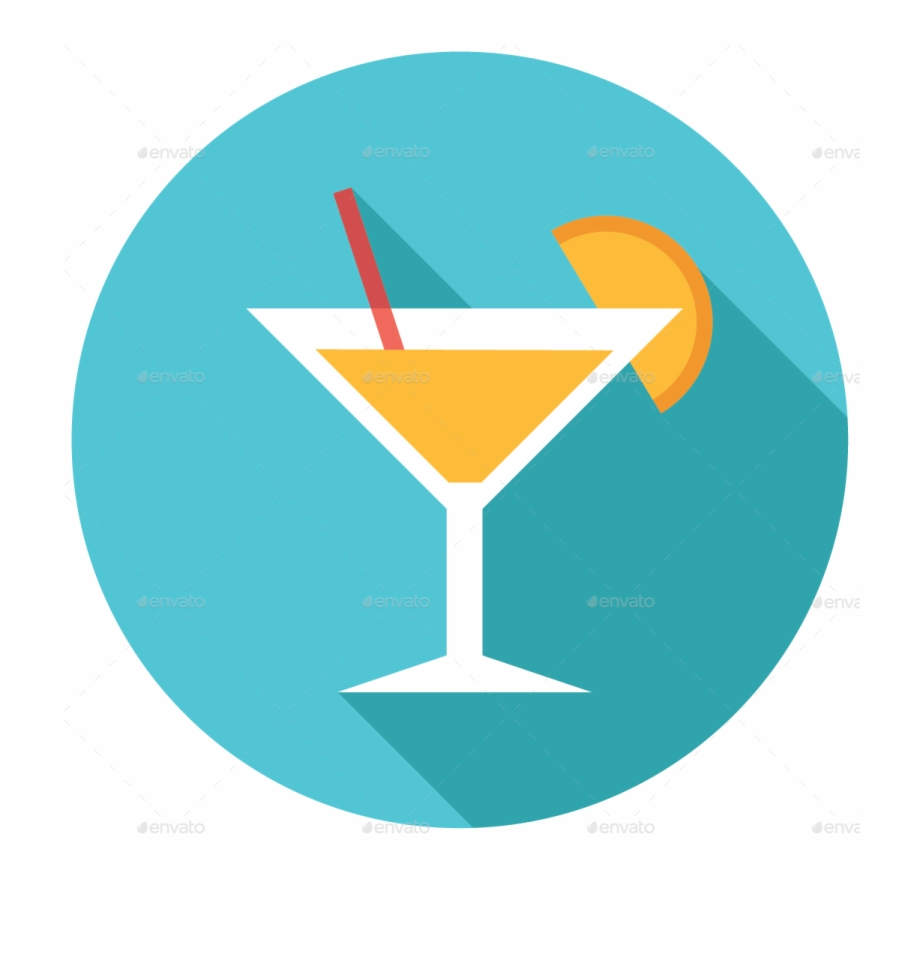 Cocktails clipart mocktail. Martini flat icon drink