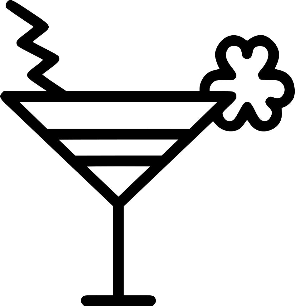 Cocktail drink shamrock svg. Cocktails clipart mocktail