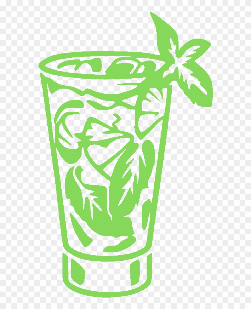 Glass png download . Cocktail clipart mojito