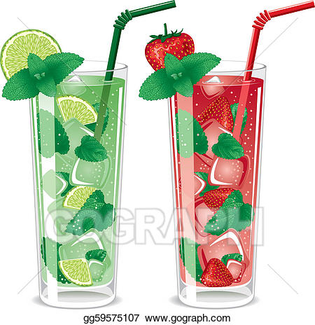 Cocktails clipart refreshing. Vector art mojito drawing