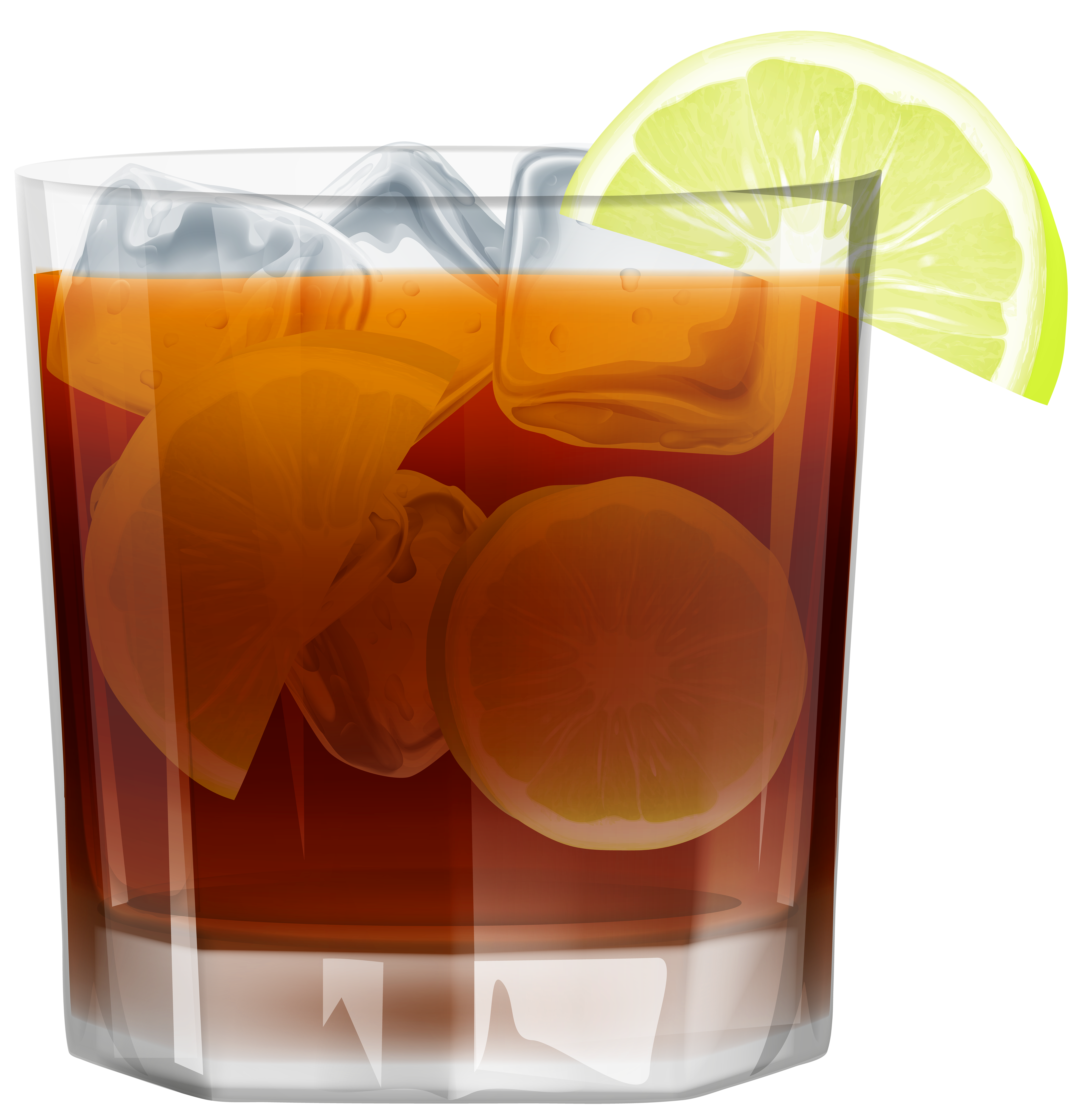 Cocktails clipart old fashioned cocktail. Whiskey withice and lemon