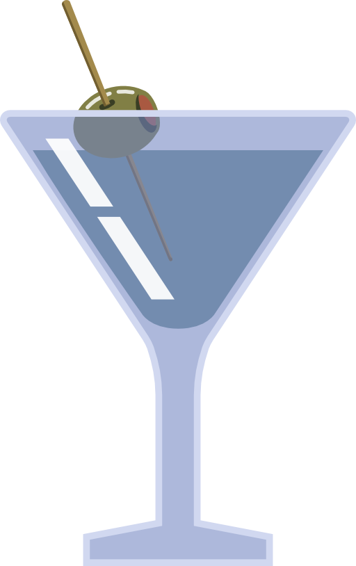 Cocktail clipart outline. Martini with olive i