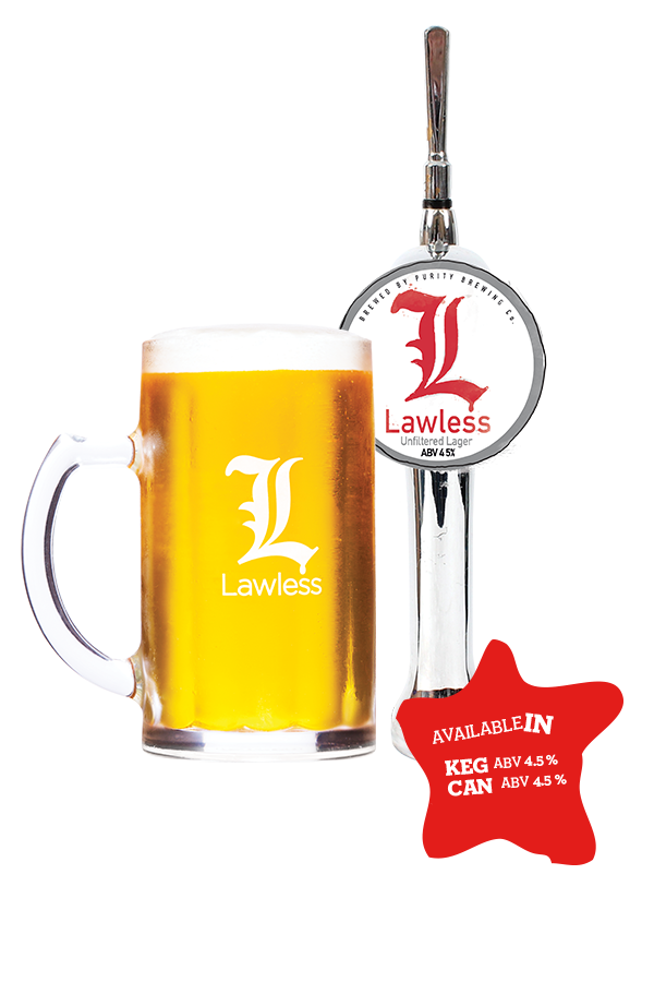 Lawless lager purity brewing. Cocktails clipart pilsner
