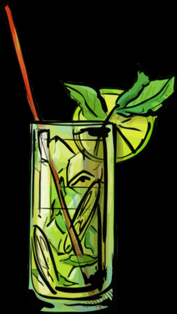 Onlinelabels clip art mojito. Cocktails clipart pina colada glass