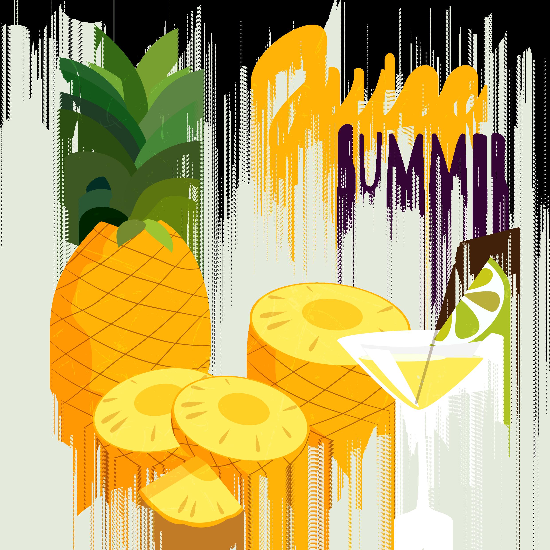 Juice cocktail fruit food. Cocktails clipart pineapple drink