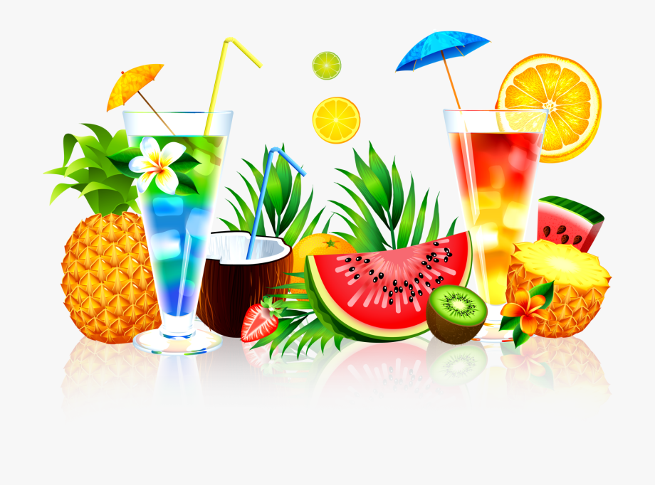 Cocktails clipart pineapple drink. Summer juice png