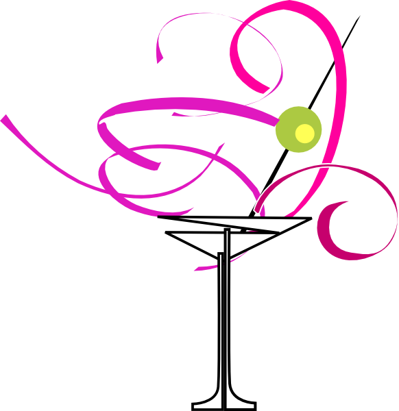 Cocktail clipart pink cocktail. Martini glass clip art