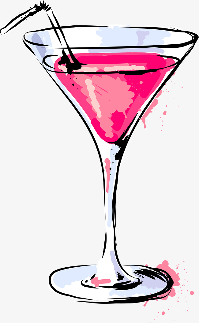 Download lady martini wine. Cocktail clipart pink cocktail