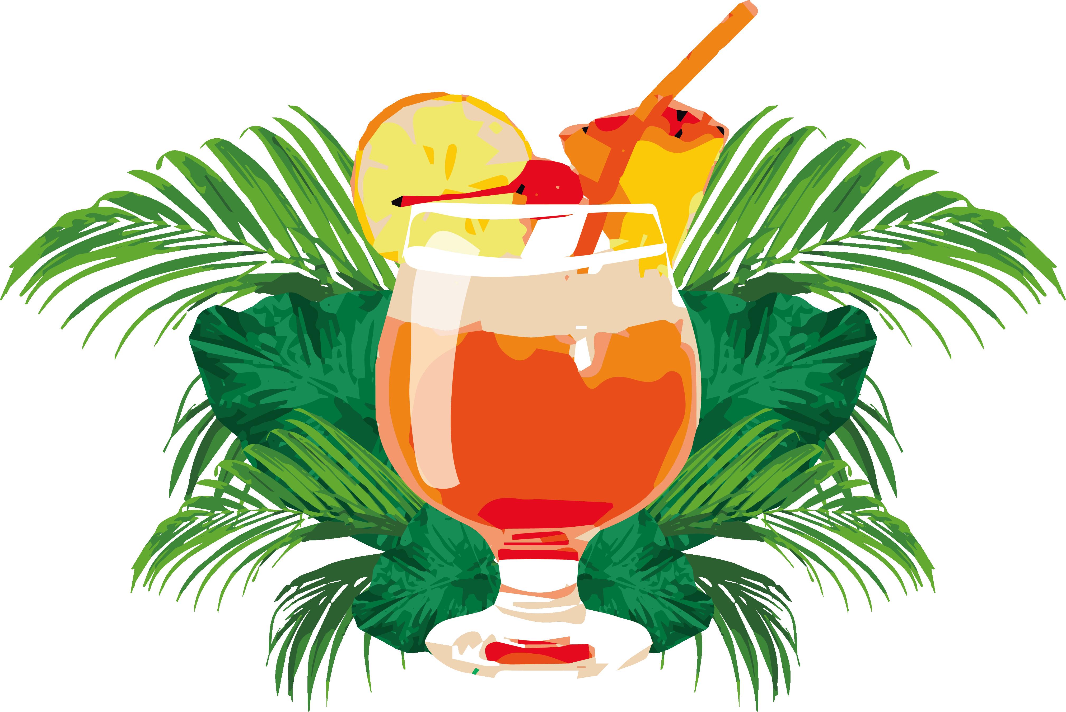 Orange juice mai tai. Cocktail clipart punch drink