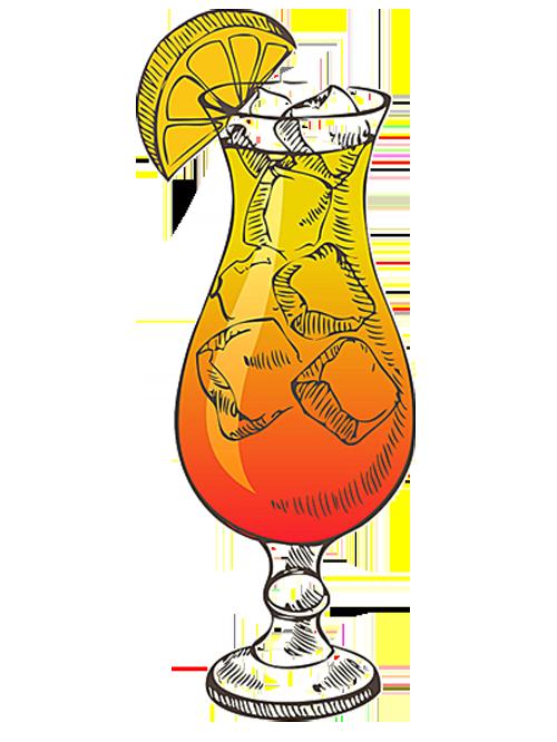 Tequila sunrise liqueur style. Cocktail clipart retro cocktail