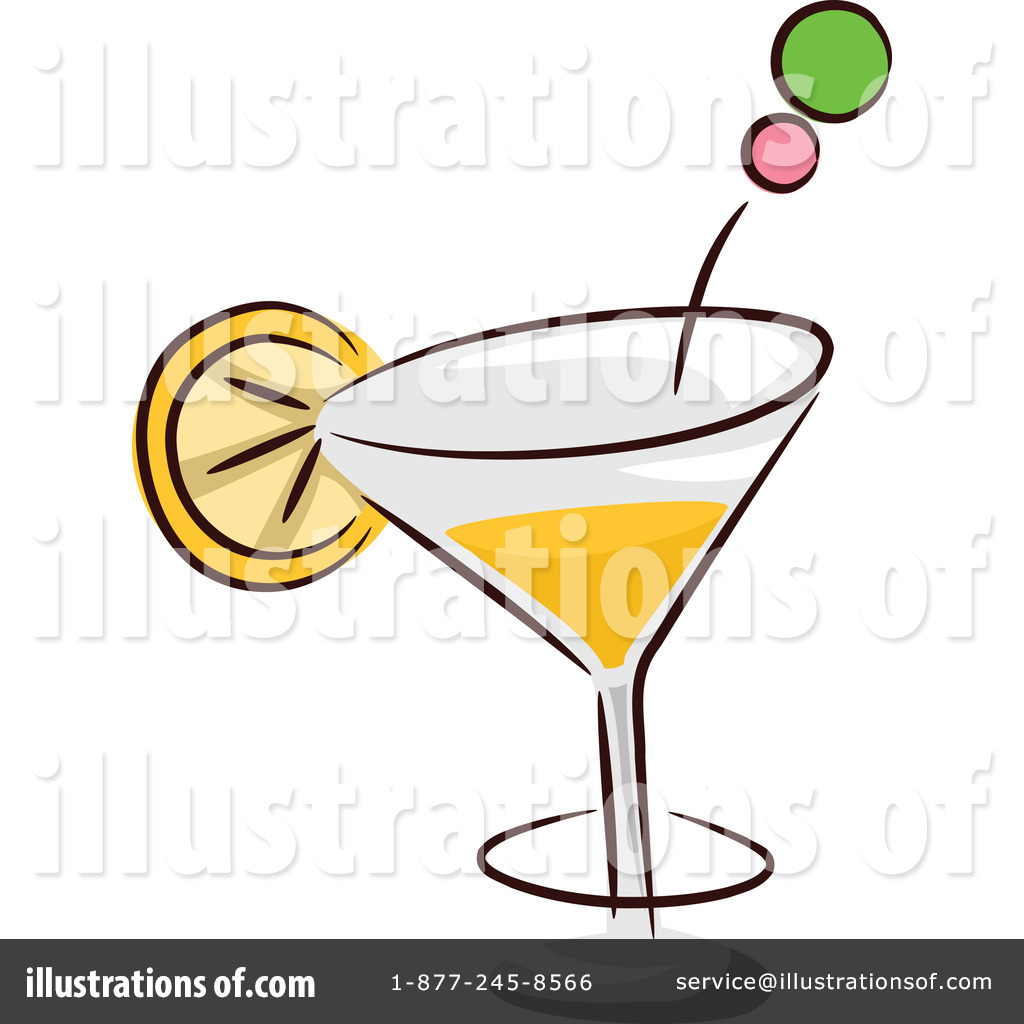 Cocktail clipart royalty free. Illustration by bnp design