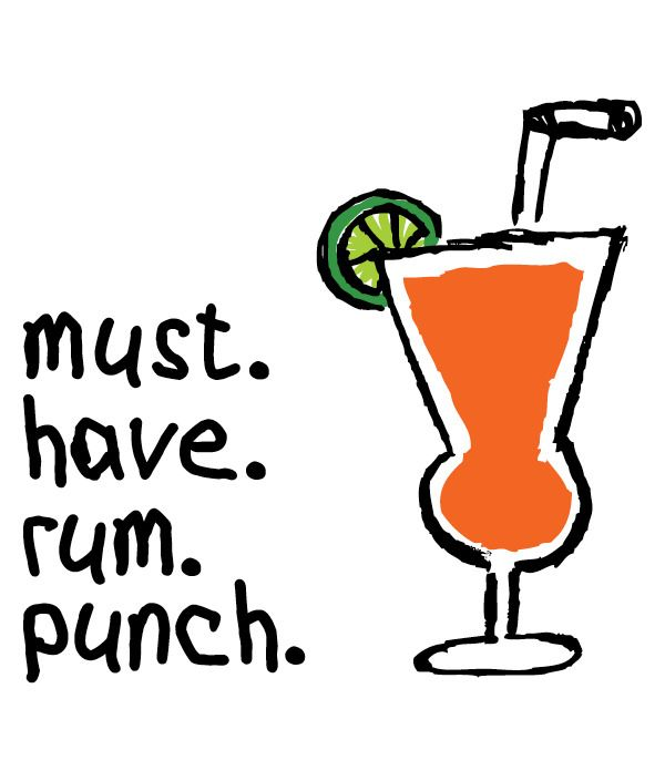 Pin on tipsy tees. Cocktail clipart rum punch