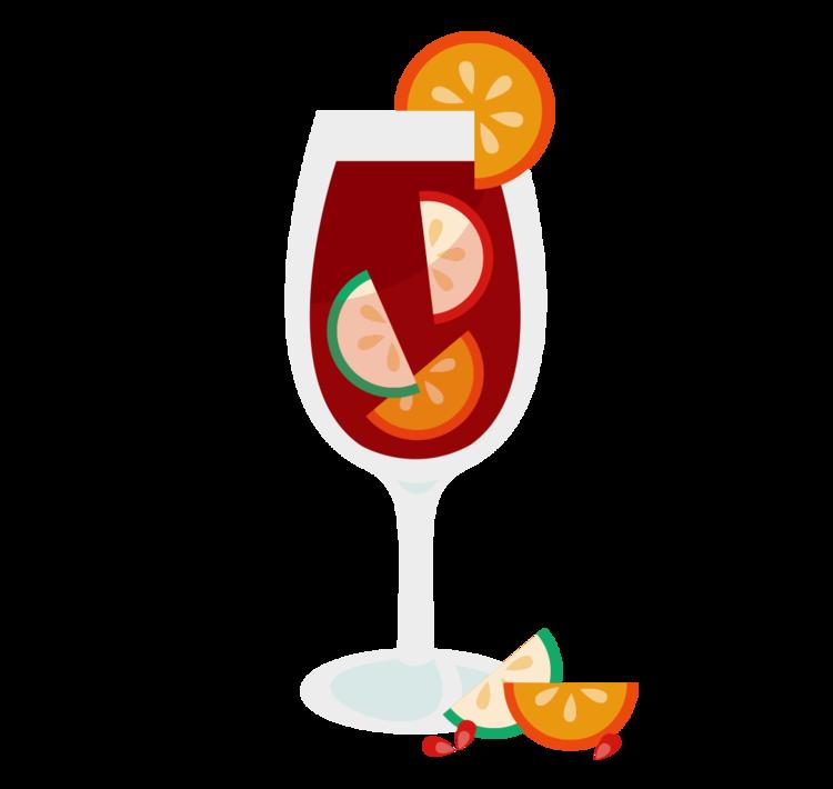 Cocktails clipart sangria glass. Assorted illustrations gina amsellem