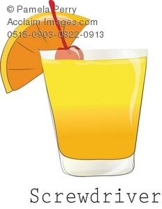 Cocktail clipart screwdriver. Clip art illustration of