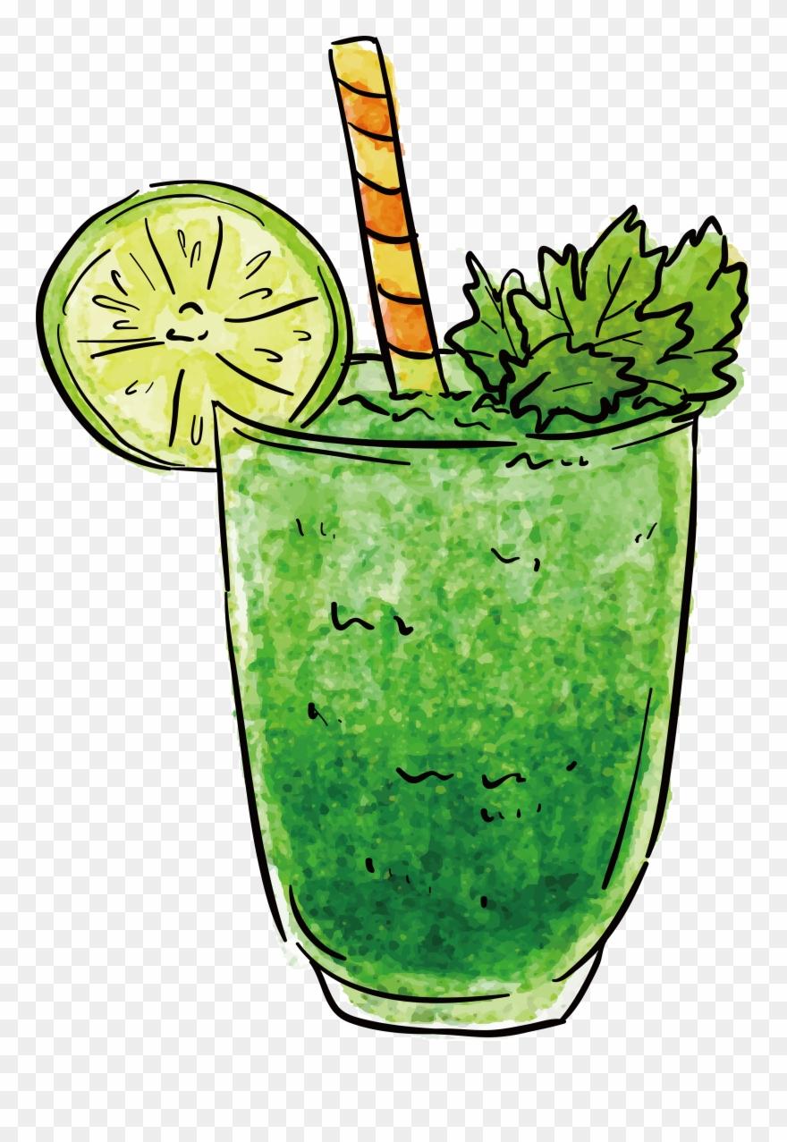 Cocktails shake transparent smoothie. Drink clipart green drink