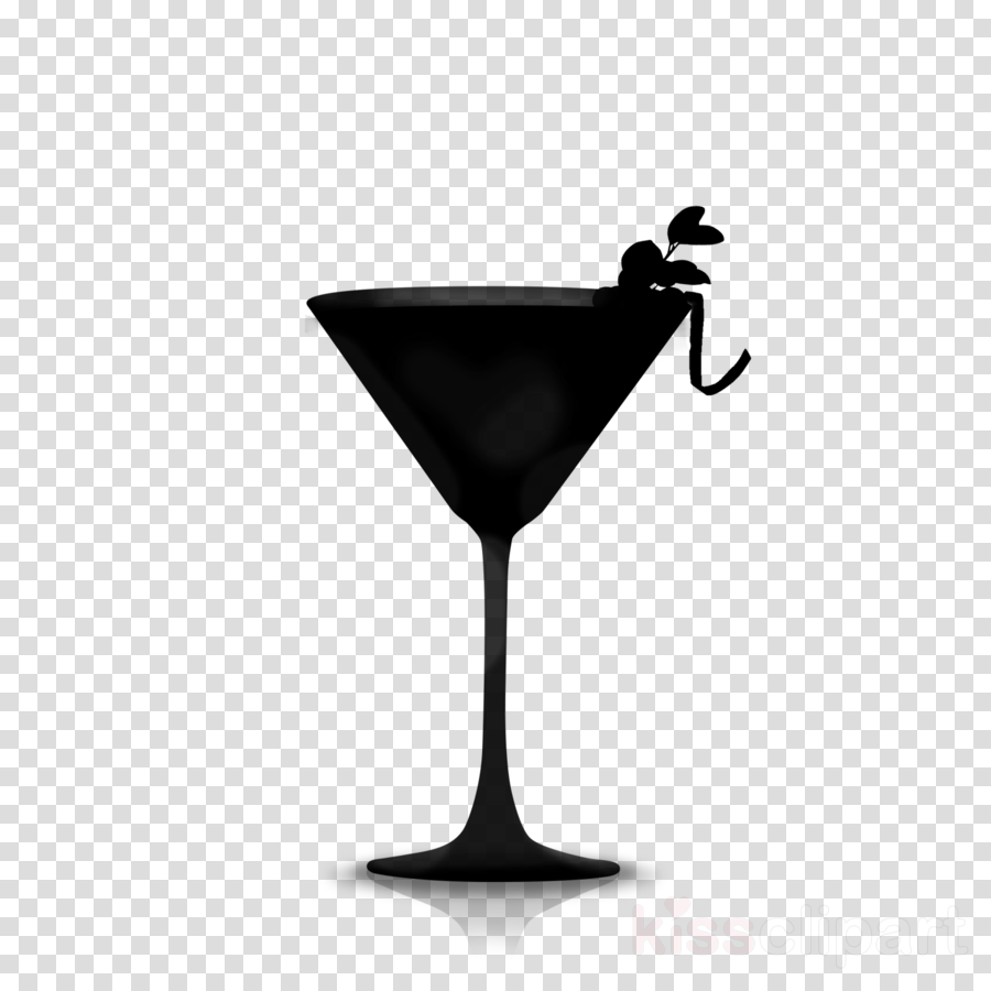 Wine glass martini cocktail. Cocktails clipart silhouette