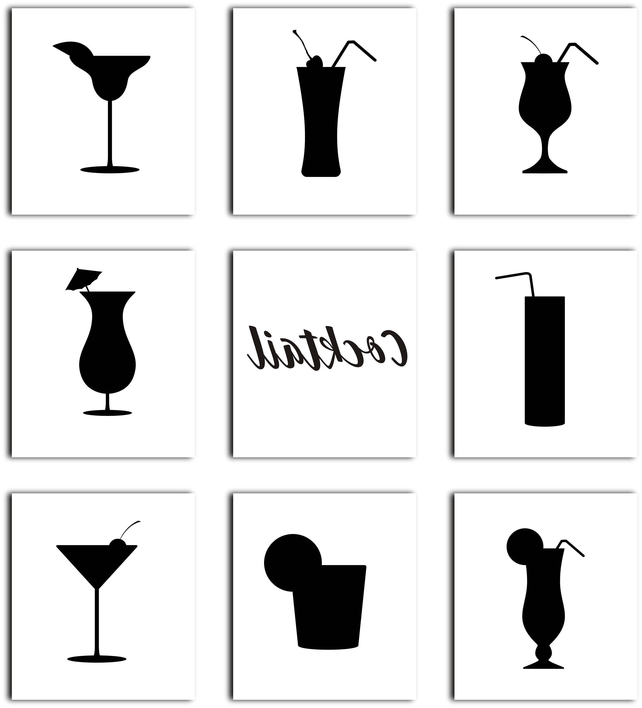 Unique cocktail silhouette clip. Drinks clipart bar drink