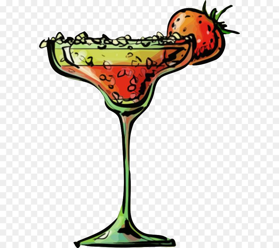 Cartoon cocktail martini . Cocktails clipart strawberry margarita