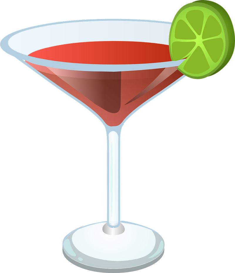 collection of alcohol. Cocktail clipart transparent background