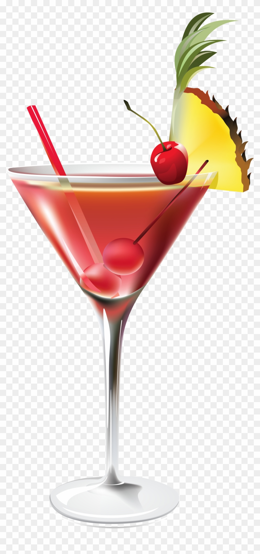 Cocktail with pineapple png. Cocktails clipart classic