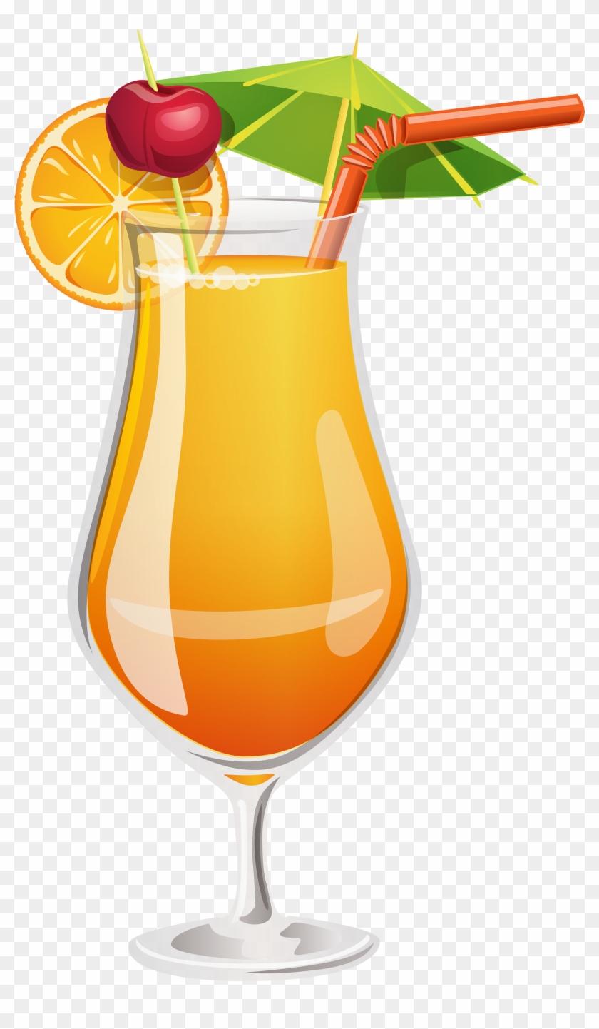 Orange png . Cocktail clipart transparent background